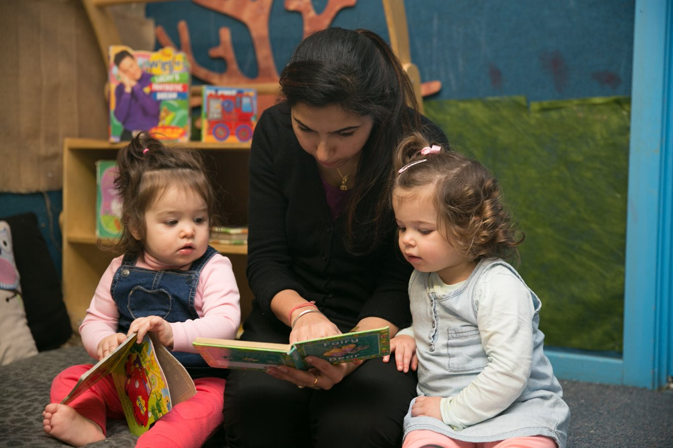 Little readers enjoy their storytime