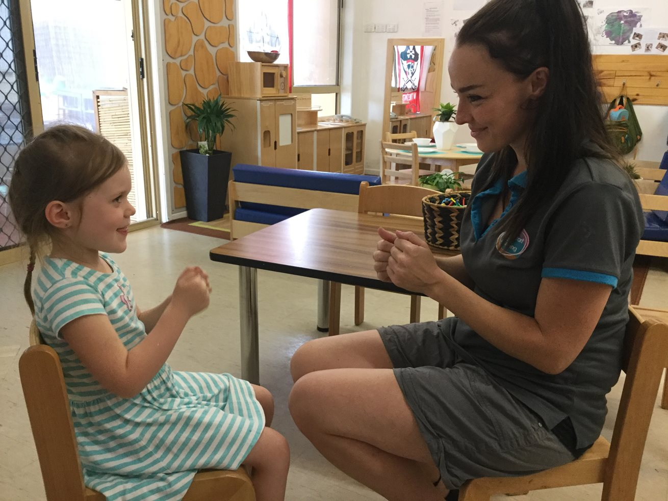 Goodstart Helensvale introduces children to sign language