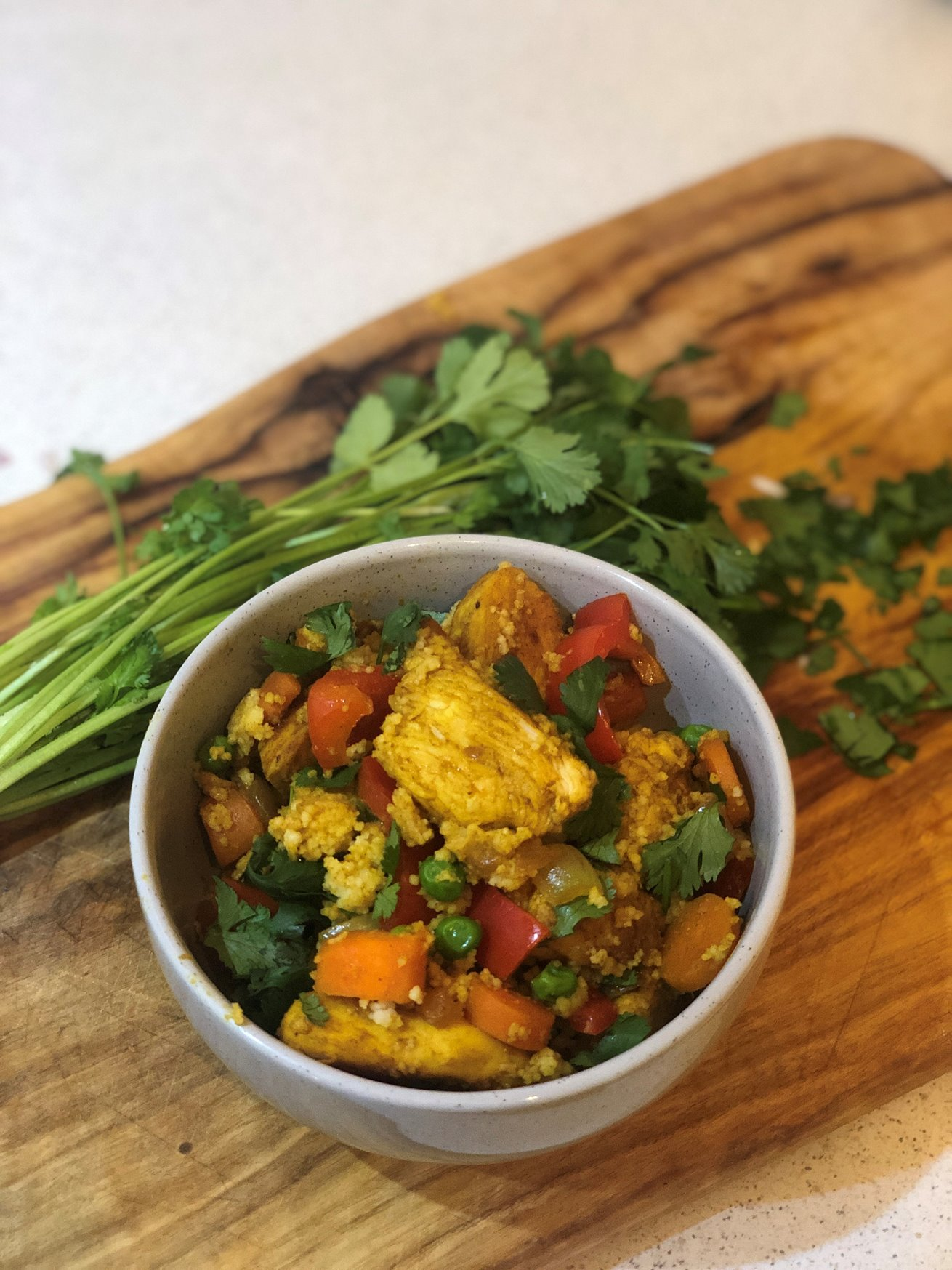 Moroccan spiced chicken cous cous