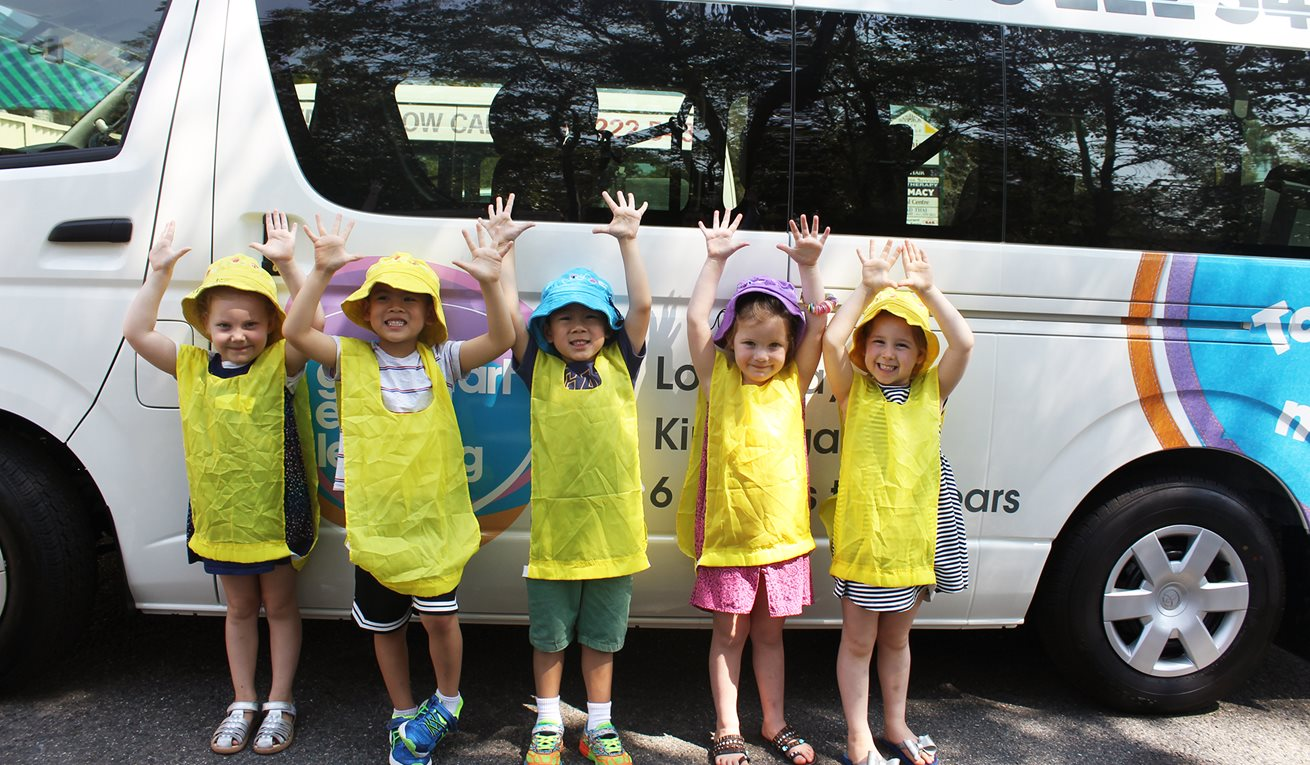 Children out and about in new Goodstart bus fleet