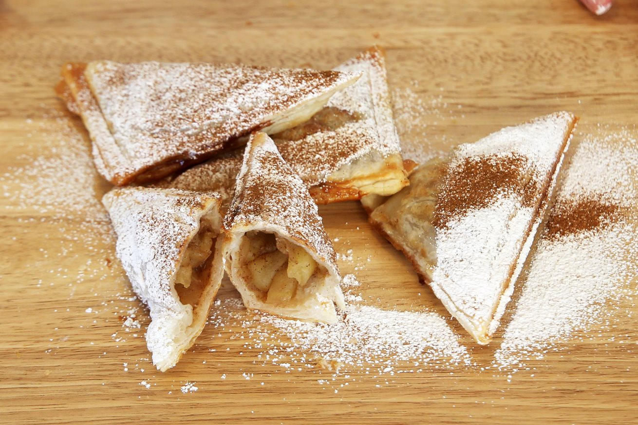 Puffy apple pie jaffle