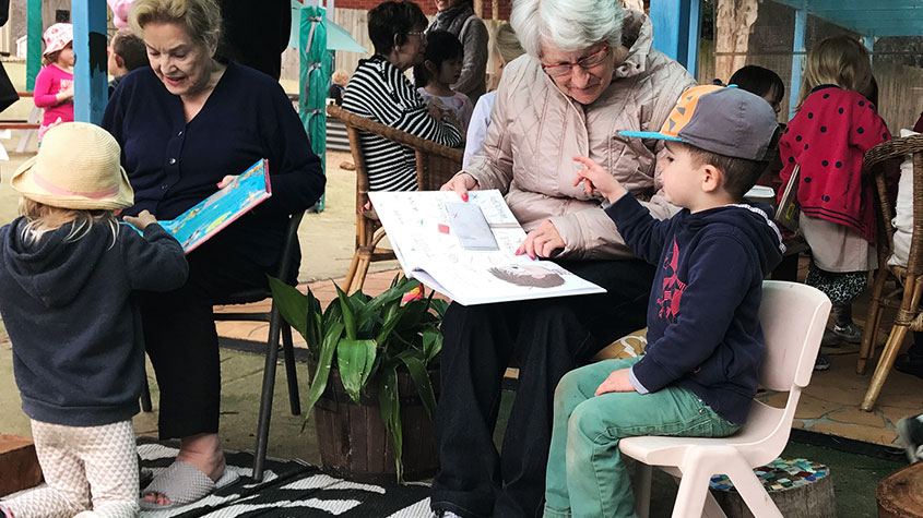 Being present benefits young and old at Mona Vale
