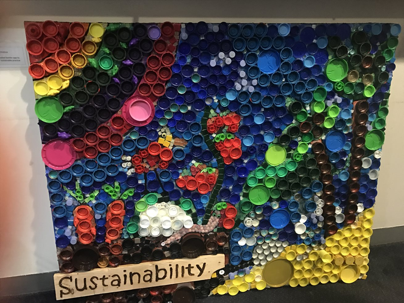 Children exhibit recycled art work goodstart for Craft from waste material for adults